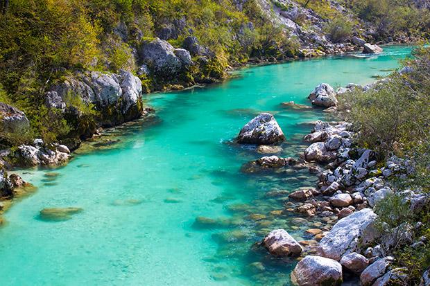 Soca rivier, Slovenië