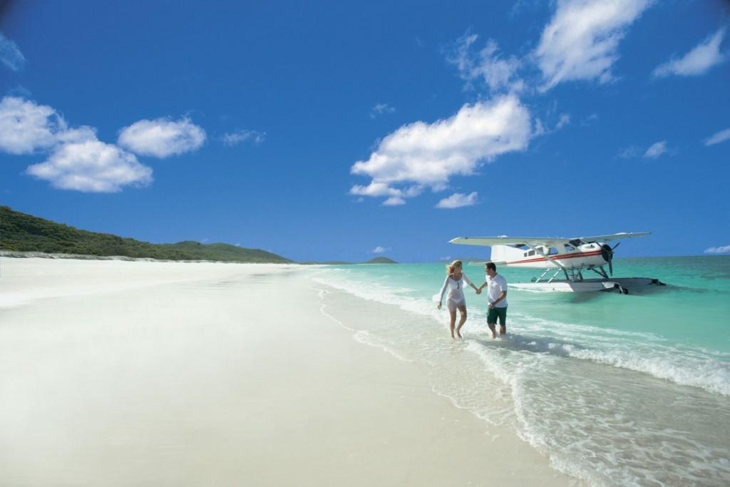 Strand Whitehaven Beach Whitsundays Australië