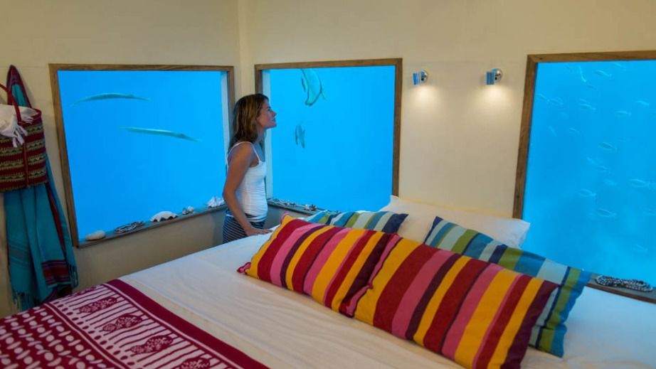 Manta Resort onderwater kamer
