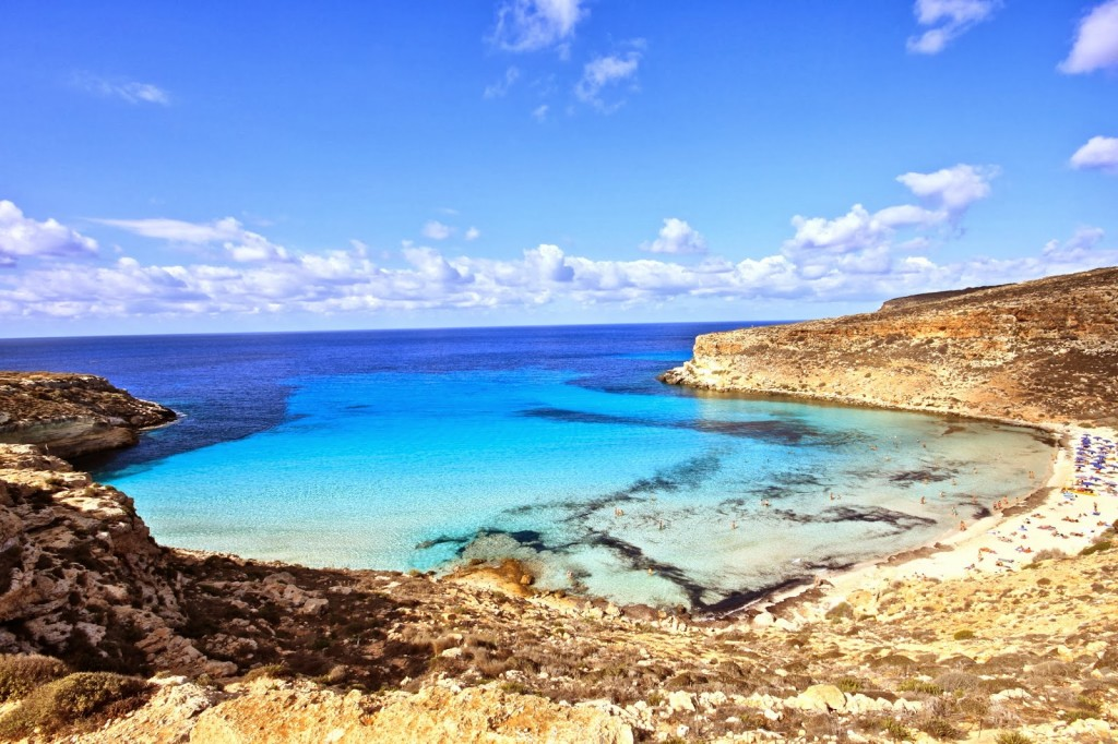 Rabbit Beach, Lampedusa (Sicilië)