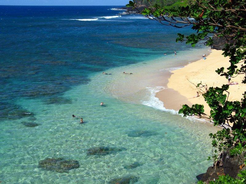 Ke'e State Beach Park, Kauai Island.