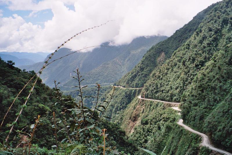 Death road dodenweg bolivia