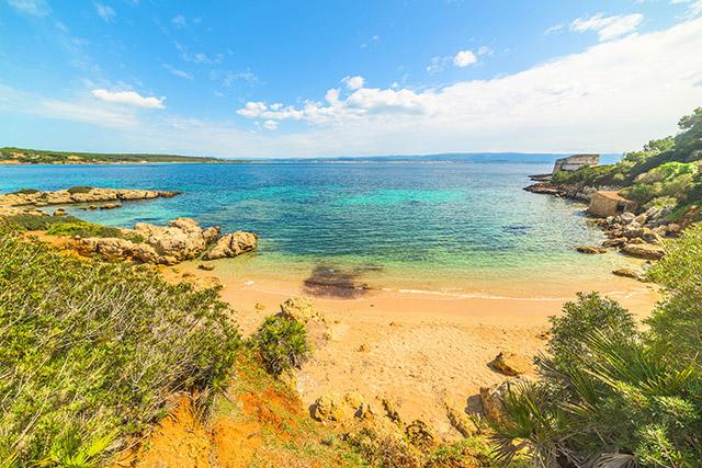 Strand in de buurt van Alghero