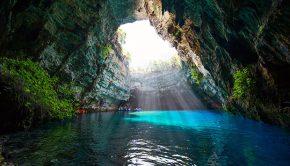 Melissani grot, Kefalonia