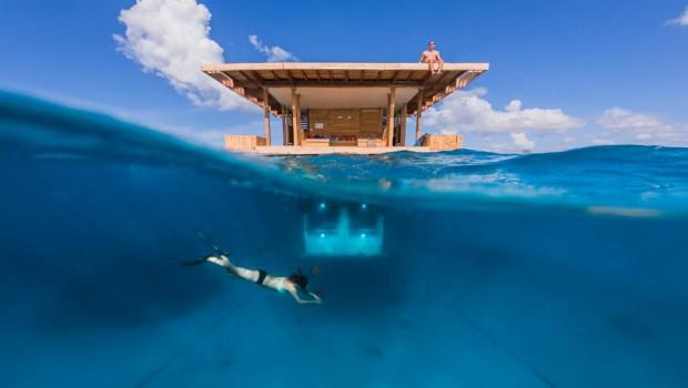 Manta Resort onderwater kamer